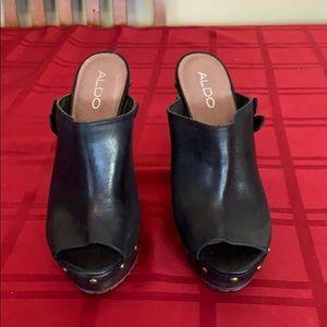 Aldo leather heels.